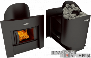 Печь-каменка Grill`D Aurora 160 Window black
