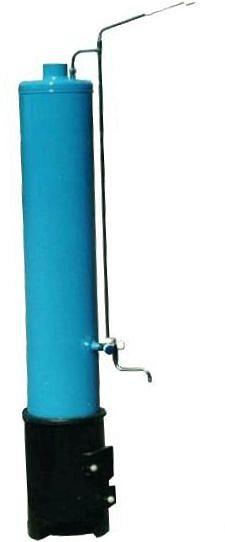 Колонка водогрейная КВЛ-90л чугун дрова синяя эмал.