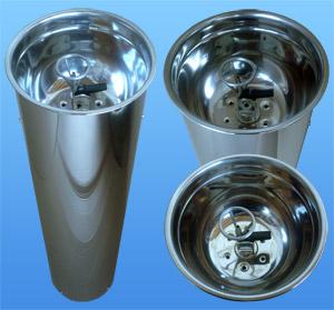 Фонтанчик цилиндрический нажимной (толщина стали 0,5мм)